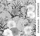 blossom floral seamless pattern....   Shutterstock .eps vector #1303096603