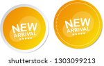 new arrival stickers | Shutterstock .eps vector #1303099213