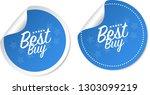 best buy stickers | Shutterstock .eps vector #1303099219