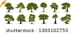 collection of tree trees... | Shutterstock .eps vector #1303102753