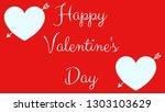 happy valentine's day. an... | Shutterstock . vector #1303103629