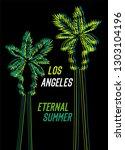los angeles eternal summer t...   Shutterstock .eps vector #1303104196