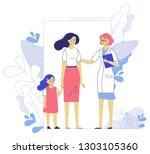 medicine concept with doctor... | Shutterstock .eps vector #1303105360