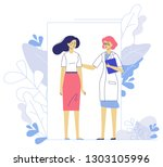 medicine concept with doctor... | Shutterstock .eps vector #1303105996