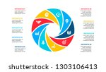 circle element for infographic... | Shutterstock .eps vector #1303106413