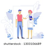 medicine concept with doctor... | Shutterstock .eps vector #1303106689