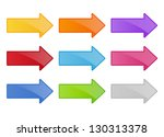arrow buttons | Shutterstock .eps vector #130313378