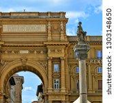 the column of abundance and... | Shutterstock . vector #1303148650