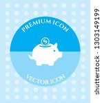 piggy bank icon for web.... | Shutterstock .eps vector #1303149199