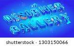 isometric 3d words designer... | Shutterstock .eps vector #1303150066
