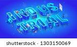vector 3d neon isometric word...