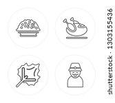 4 line porridge  leaf  turkey ... | Shutterstock .eps vector #1303155436