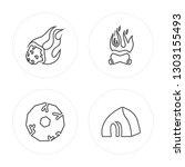 4 line meteorite  wheel ... | Shutterstock .eps vector #1303155493