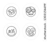 4 line crazy  dead  surprised ... | Shutterstock .eps vector #1303156699