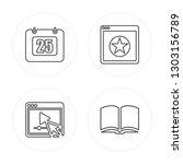 4 line calendar  video player ... | Shutterstock .eps vector #1303156789