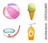 bitmap illustration of pool and ... | Shutterstock . vector #1303161883