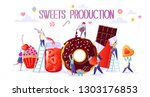 concept of sweets food... | Shutterstock .eps vector #1303176853