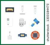 9 hardware icon. vector... | Shutterstock .eps vector #1303184473