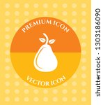 pear icon for web  applications ... | Shutterstock .eps vector #1303186090