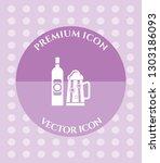 wine glass   bottle icon for... | Shutterstock .eps vector #1303186093
