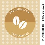 coffee beans icon for web ... | Shutterstock .eps vector #1303186126