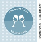 wine glass icon for web ... | Shutterstock .eps vector #1303186129