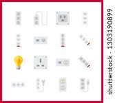 16 switch icon. vector... | Shutterstock .eps vector #1303190899
