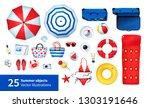 top view vector summertime... | Shutterstock .eps vector #1303191646