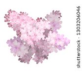 spring flower  twig pink lilac. ...   Shutterstock .eps vector #1303206046