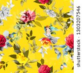 seamless floral background... | Shutterstock .eps vector #1303207546