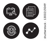 4 linear vector icon set   php  ... | Shutterstock .eps vector #1303215049