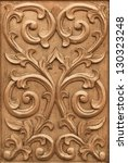 Pattern Of Flower Carved On...