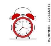 vintage alarm clock colored...