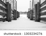 minimal snow covered outdoor... | Shutterstock . vector #1303234276