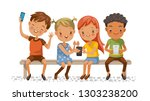 group of children people use...   Shutterstock .eps vector #1303238200
