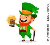 saint patrick day. funny... | Shutterstock .eps vector #1303240909
