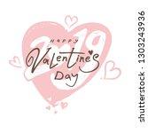 big gentle heart 2019. happy... | Shutterstock .eps vector #1303243936