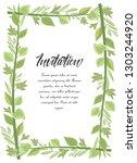 vector illustration frame green ... | Shutterstock .eps vector #1303244920