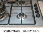 gas stove steel color. gas...   Shutterstock . vector #1303245373