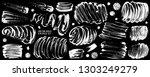soap grunge textures set. foam... | Shutterstock .eps vector #1303249279