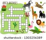 exotic african animals vector... | Shutterstock .eps vector #1303256389
