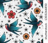 oldschool traditional tattoo... | Shutterstock .eps vector #1303266850
