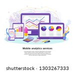 services of applications and... | Shutterstock . vector #1303267333