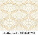 golden laced seamelss vector... | Shutterstock .eps vector #1303280260