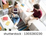 young woman and man in... | Shutterstock . vector #1303283230