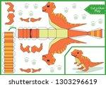 cut and glue the paper a cute... | Shutterstock .eps vector #1303296619