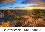panorama view of sunrise over... | Shutterstock . vector #1303298083