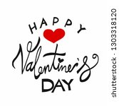 happy valentine's day word... | Shutterstock .eps vector #1303318120