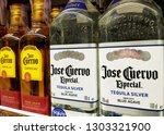 mexican tequila jose guervo... | Shutterstock . vector #1303321900