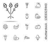 asparagus dusk style icon.... | Shutterstock .eps vector #1303325443